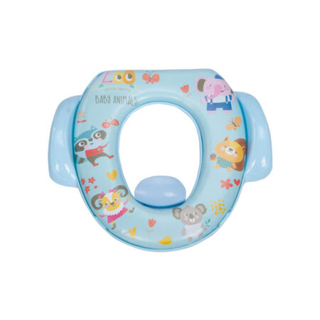 Mee Mee Soft Cushioned Potty Seat with Support Handles (with Easy Grip Handles, Blue)