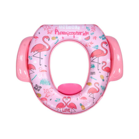 Mee Mee Soft Cushioned Potty Seat with Support Handles (with Easy Grip Handles, Pink)