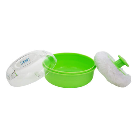 Mee Mee Soft Feel Powder Puff With Powder Container, Green (80g)