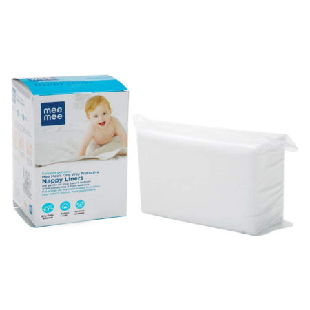 Mee Mee Soft Mini Baby Napkins (One Way Nappy Liner, White)