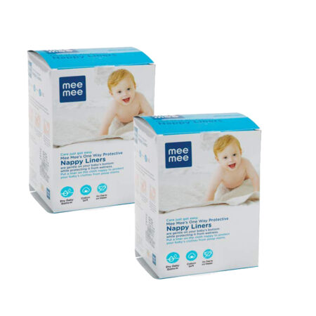 Mee Mee Soft Mini Baby Napkins (One Way Nappy Liner, White) Pack of 2
