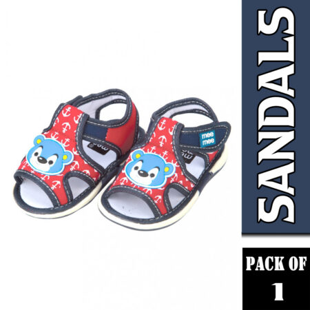 Mee Mee First First Walk Baby Sandals With Chu Chu Sound (Anchor Print) Blue