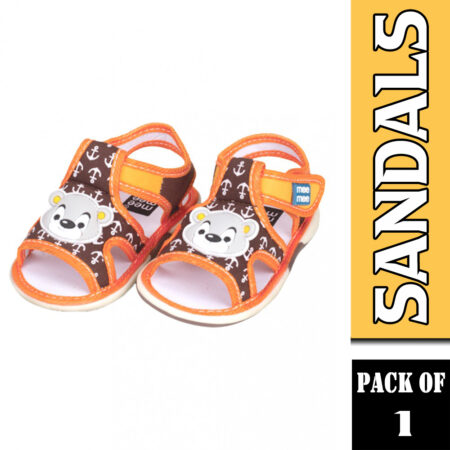 Mee Mee First First Walk Baby Sandals With Chu Chu Sound (Anchor Print) Yellow