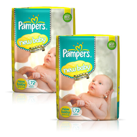 Pampers Active Baby Diapers, New Born, Extra Small, (NB, XS) size, 24 Count