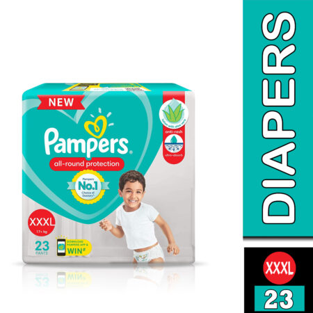 Pampers All round Protection Pants, Triple Extra Large size baby diapers (XXXL) 23 Count