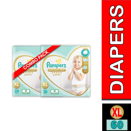 Pampers Premium Care Pants Diapers, X-Large, XL 24 Count & Pampers Premium Care Pants Diapers,