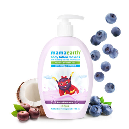 Mamaearth Brave Blueberry Body Lotion For Kids with Blueberry and Kokum Butter, 400ml