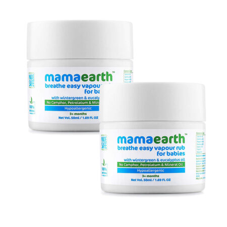 Mamaearth Breathe Easy Vapour Rub, 50ml (Pack of 2)