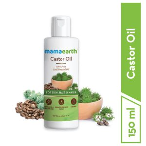 Mamaearth Castor Oil, 100% Pure and Natural Cold-Pressed Oil, 150ml (Pack of 2)