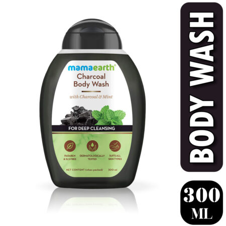Mamaearth Charcoal Body Wash With Charcoal and Mint for Deep Cleansing, 300ml