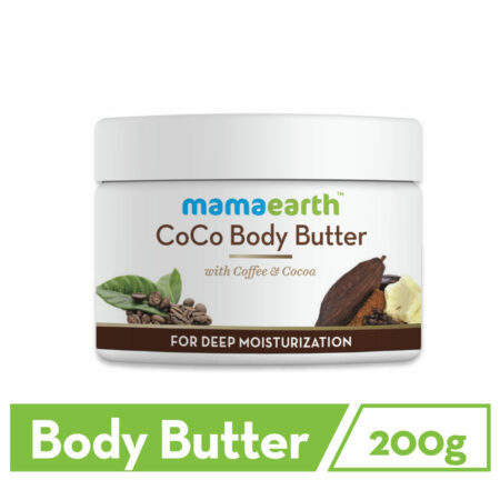 Mamaearth CoCo Body Butter for Dry Skin, with Coffee and Cocoa for Deep Moisturization, 200g (Pack o