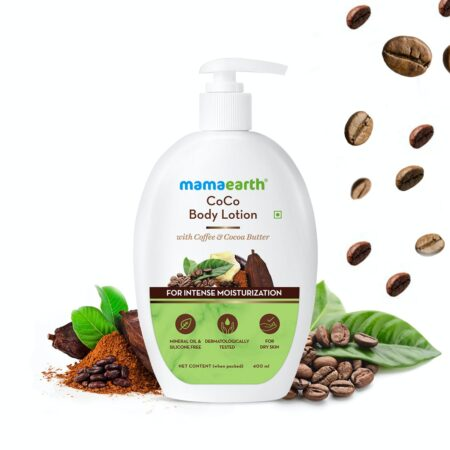 Mamaearth CoCo Body Lotion With Coffee and Cocoa for Intense Moisturization, 400ml