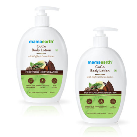 Mamaearth CoCo Body Lotion With Coffee and Cocoa for Intense Moisturization, 400ml (Pack of 2)