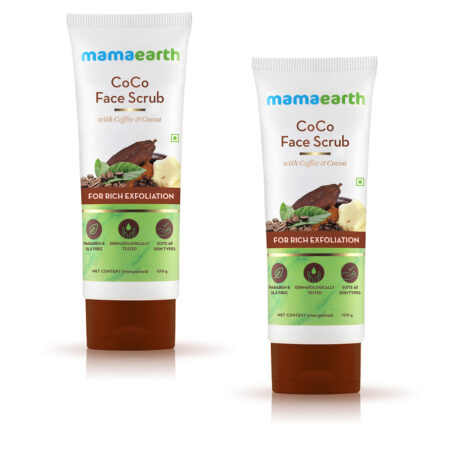CoCo Face Scrub with Coffee and Cocoa for Rich Exfoliation, 100gm (Pack of 2)