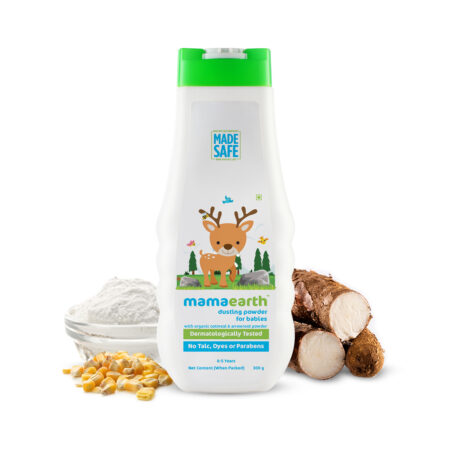 Mamaearth Dusting Powder with Organic Oatmeal and Arrowroot Powder for Babies, 300g