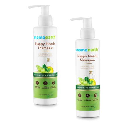 Mamaearth Happy Heads Shampoo for healthy and stronger hair, 200ml (Pack of 2)