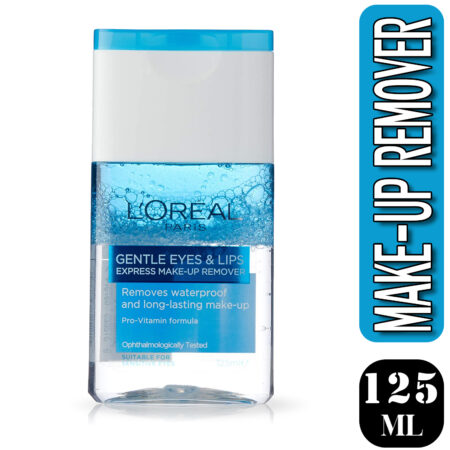 L'Oreal Paris Dermo Expertise Lip and Eye Make-Up Remover, 125ml (Pack of 2)