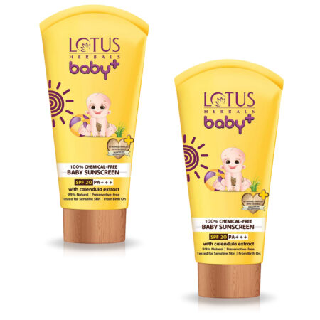 Lotus BABY+ SUNSCREEN SPF 20 PA+++ (100g) Pack of 2