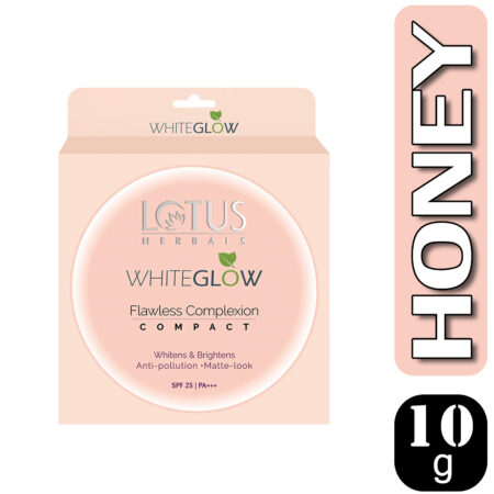 Lotus Herbals WHITEGLOW Flawless Complexion Compact Honey WGC2, 10g