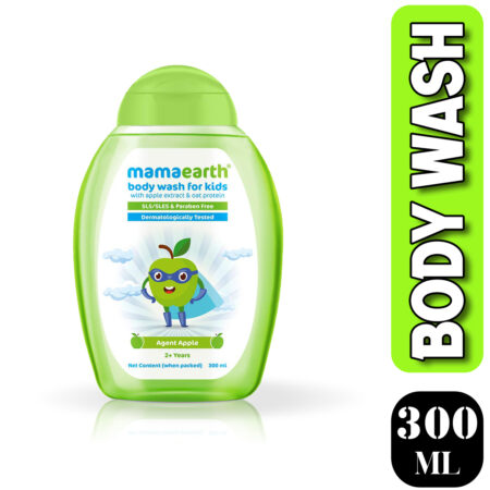 Mamaearth Mamaearth Agent Apple Body Wash for Kids with Apple and Oat Protein 300ml