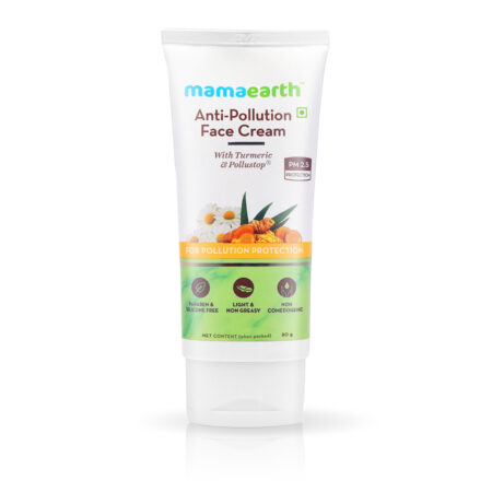 Mamaearth Anti-Pollution Face Cream with Turmeric and Pollustop For a Bright Glowing Skin, (80 ml)