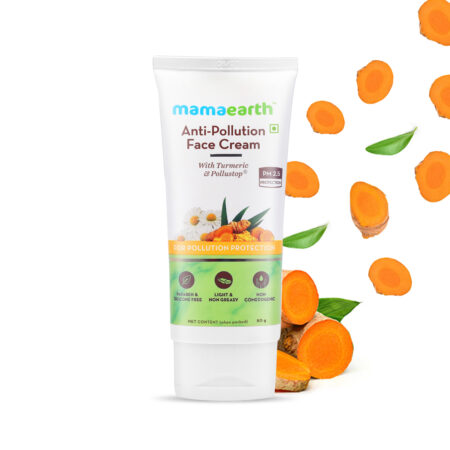 Mamaearth Anti-Pollution Face Cream with Turmeric and Pollustop For a Bright Glowing Skin, 80ml