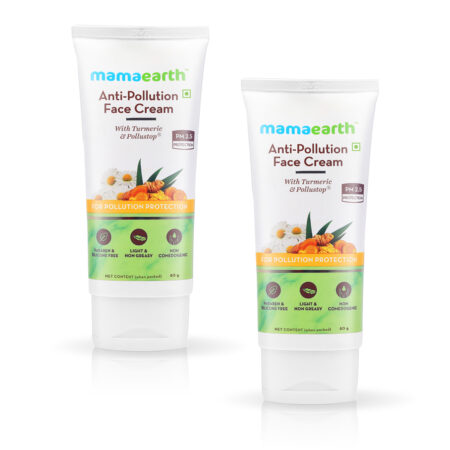 Mamaearth Anti-Pollution Face Cream with Turmeric and Pollustop For a Bright Glowing Skin, (80ml) Pack of 2