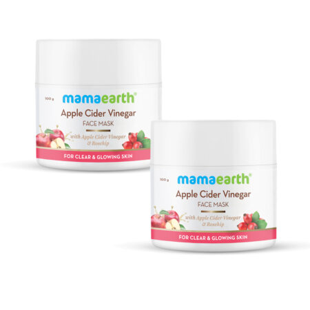 Mamaearth Apple Cider Vinegar & Rosehip Oil for Clear and Glowing Skin, (100g) Pack of 2