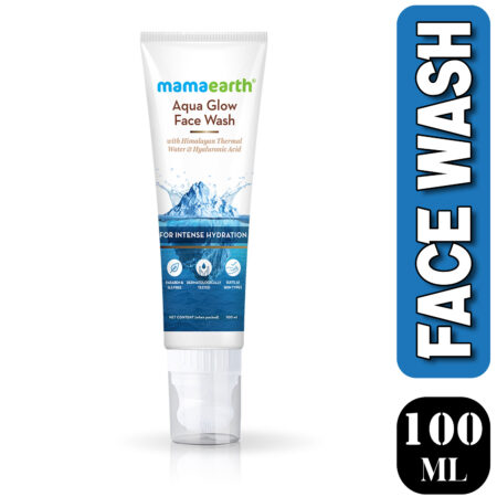 Mamaearth Aqua Glow Face Wash With Himalayan Thermal Water and Hyaluronic Acid for Intense Hydration