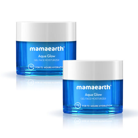 Mamaearth Aqua Glow Gel Face Moisturizer With Himalayan Thermal Water and Hyaluronic Acid for 72 Hou