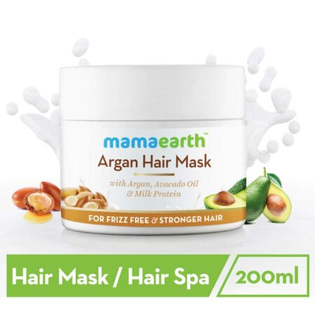 Mamaearth Argan Hair Mask with Avocado Oil, and Milk Protein for Stronger Hair, 200ml
