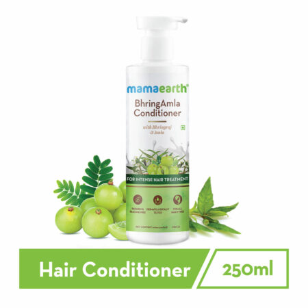 Mamaearth BhringAmla Conditioner with Bhringraj and Amla for Intense Hair Treatment, 250ml (Pack of