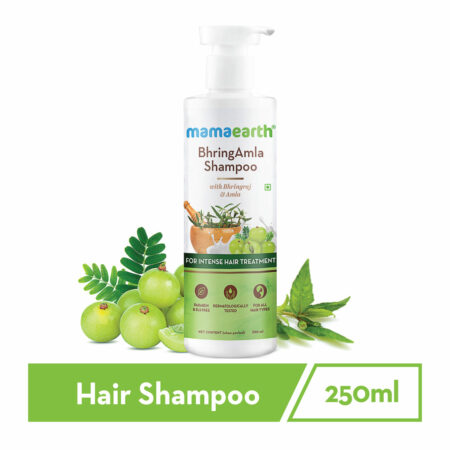 Mamaearth BhringAmla Shampoo with Bhringraj and Amla for Intense Hair Treatment, 250ml (Pack of 2)