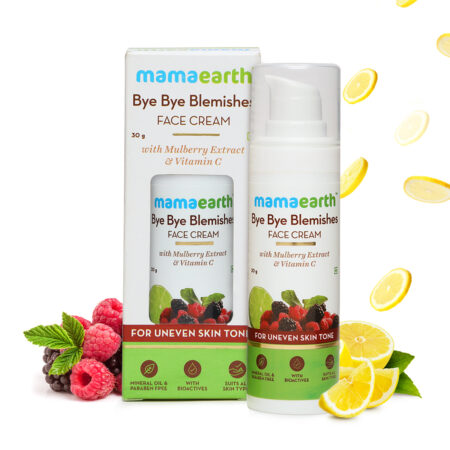 Mamaearth Bye Bye Blemishes Face Cream with Mulberry Extract and Vitamin C (30g)