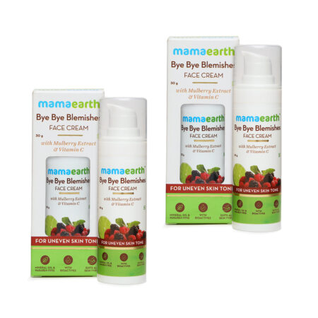 Mamaearth Bye Bye Blemishes Face Cream with Mulberry Extract and Vitamin C (30g) Pack of 2