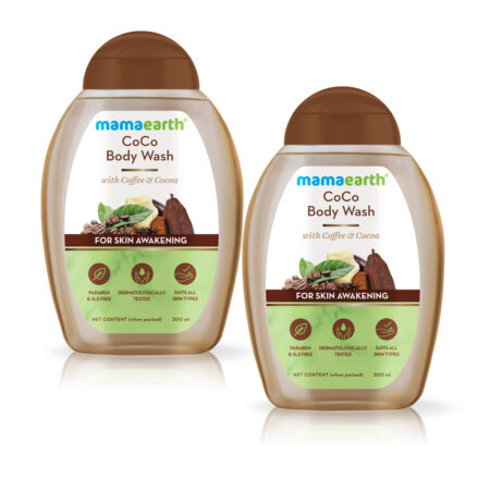 Mamaearth CoCo Body Wash With Coffee and Cocoa For Skin Awakening, 300ml (Pack of 2)