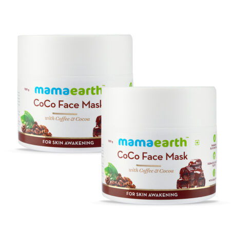 Mamaearth CoCo Face Mask with Coffee and Cocoa for Skin Awakening, 100 gm (Pack of 2)