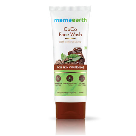 Mamaearth CoCo Face Wash with Coffee and Cocoa for Skin Awakening, 100ml