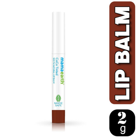 Mamaearth CoCo Tinted 100% Natural Lip Balm with CoCo and Vitamin E, 2g (Pack of 2)