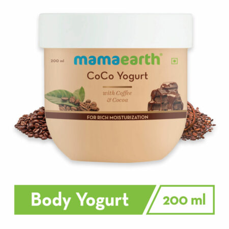 Mamaearth CoCo Yogurt, with Coffee and Cocoa for Rich Moisturization, 200ml (Pack of 2)