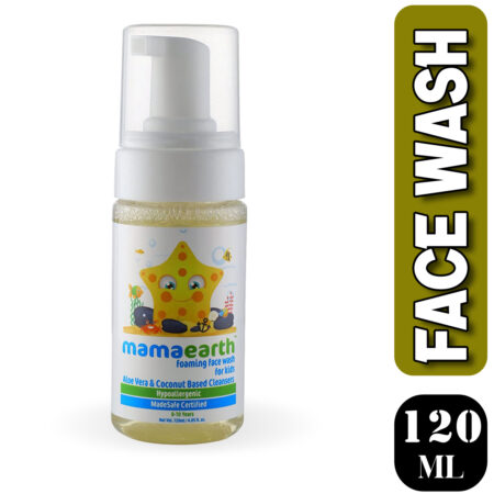 Mamaearth Foaming Facewash for Kids, 120ml (Pack of 2)