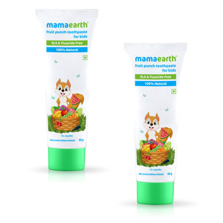 Mamaearth Fruit Punch Toothpaste, (50g) Pack of 2