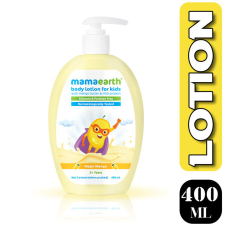 Mamaearth Major Mango Body Lotion For Kids with Mango Butter & Milk Protein, 400ml (Pack of 2)