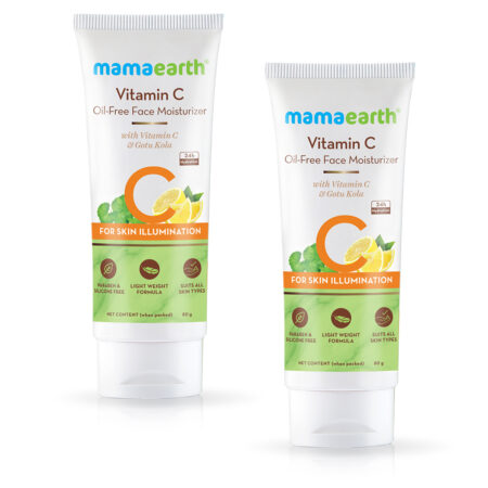 Mamaearth Oil Free Moisturizer For Face with Vitamin C and Gotu Kola for Skin Illumination 80ml (Pack of 2)