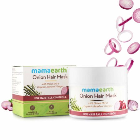 Mamaearth Onion Hair Mask, For Hair Fall Control, With Onion Oil and Organic Bamboo Vinegar, 200ml