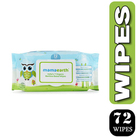 Mamaearth Organic Bamboo Based Baby Wipes, (72Wipes) Pack of 2