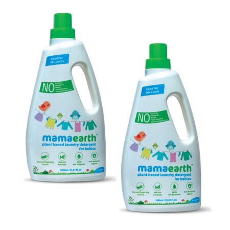 Mamaearth Plant based laundry detergent, 1Ltr (Pack of 2)