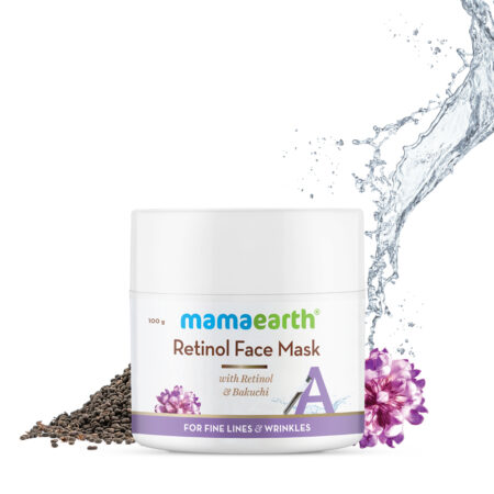 Mamaearth Retinol Face Mask with Retinol and Bakuchi for Fine Lines & Wrinkles 100gm