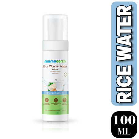 Mamaearth Rice Wonder Water With Rice Water & Keratin For Detangled Hair in 7 Seconds, (100ml)