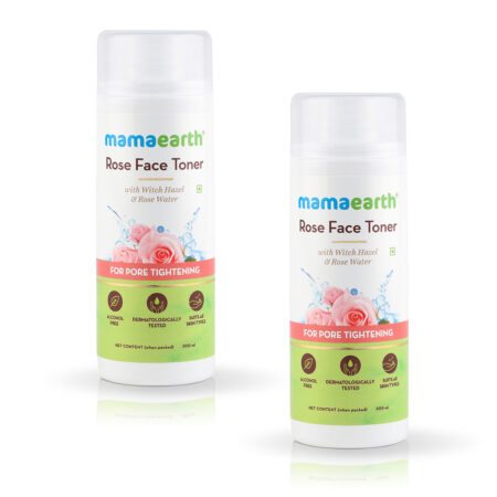 Mamaearth Rose Face Toner with Witch Hazel and Rose Water for Pore Tightening, 200ml (Pack of 2)